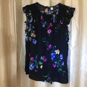 Floral print blouse old navy